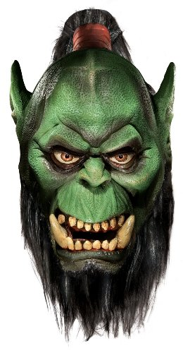 Lets Party By Rubies Costumes World of Warcraft - Exclusive Orc Mask - Adult / White - Size One - Size