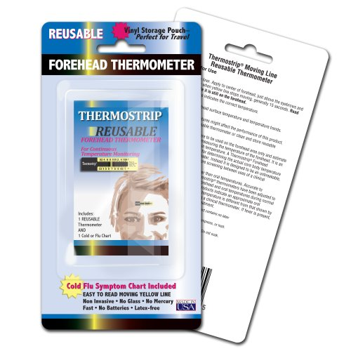 Hallcrest Reusable Forehead Thermometer, 3 Count