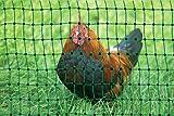Pet Products - gr�ner Gartenzaun 50 m x 112 cm H�hnerzaun + 14 Pf�hle H�hner-Zaun Gefl�gelzaun Garten