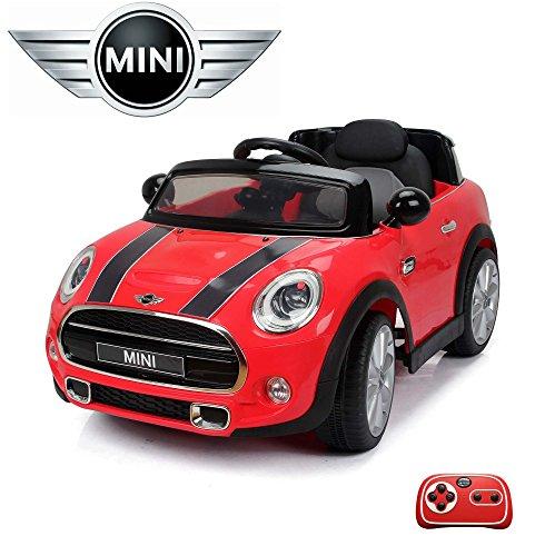 MINI-Cooper-S-Kinder-Elektroauto-Deluxe-Edition-24GHz-Fernbedienung-Multifunktionscockpit-MP3-Anschluss-realistischen-Soundeffekten-12V-Powerakku-und-2x35W-starker-Motor-2-Speed-und-vieles-mehr-Rot