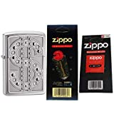 Zippo 20904 Classic Bling Emblem High Polish Chrome Swarovski Crystal Windproof Lighter with One Flint Card and One Wick Card