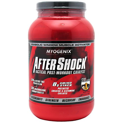 Aftershock Recovery, Targets Muscle Growth, Pina Colada, 2.64 Lbs, From Myogenix