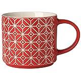 Red Textured Tile Mug