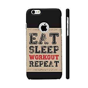 Colorpur Eat Sleep Workout Repeat Designer Mobile Phone Case Back Cover For Apple iPhone 6 / 6s with hole for logo | Artist: Designer Chennai