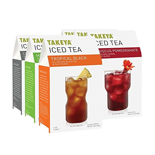 Takeya Loose Leaf Iced Tea, Starter Collection, 6 Count (Pack of 6)(Packaging may vary) (Takeya Pitcher 1 Qt compare prices)