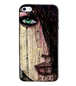 Omnam Girl Closeup With Hairs Printed Designer Back Cover Case For Apple iPhone 4/4s
