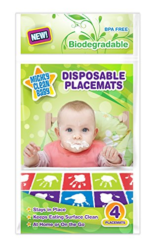 Mighty Clean Baby Disposable Placemats 24 Count (6 Packages of 4 Placemats) - 1