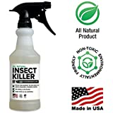 All Natural Non toxic Insect Killer Spray by Killer Green - 16 oz. - Kills on cockroaches, Ants, Mosquitos, Spiders. !00% Money Back Guarantee - Safe for People, Plants and Pets