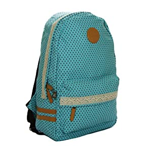 Amazon.com: Canvas Rucksack Polka-dot Backpack with Lace