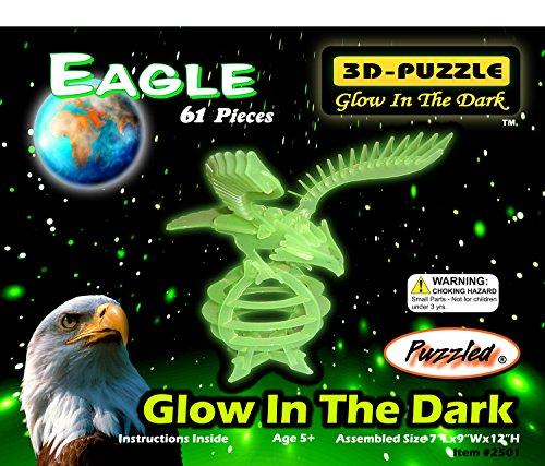 Puzzled Glow In The Dark Eagle 3D Jigsaw Puzzle