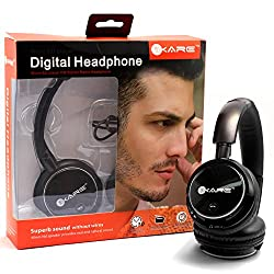 iKare Wireless On-Ear Bluetooth Headphone with Mic (Black)
