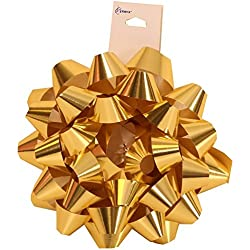 "JAM Paper® Gift Bows - Medium (5 1/2"" Diameter) - Gold - sold individually"