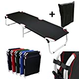 Magshion*Black Camping Folding Military Cot Outdoor + Free Storage Bag