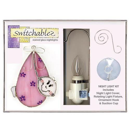 SW146K Baby Girl Stained Glass Night Light Kit Everything Else