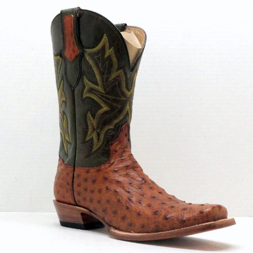 Stetson Cowboy Boots Mens Tan Full Quill Ostrich Square