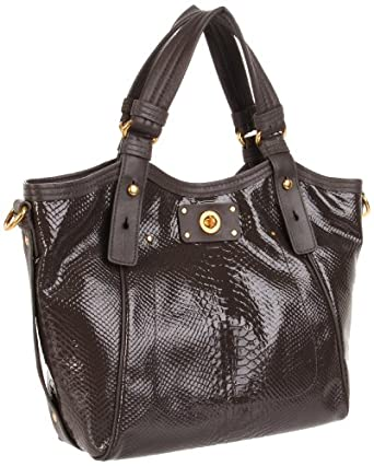 Marc by Marc Jacobs D3 Pshine Fran Shoulder Bag,Faded Aluminum,One Size