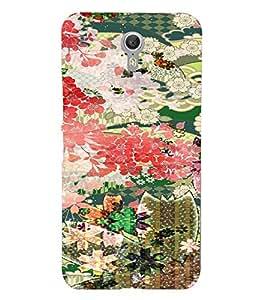 PrintVisa Girly Ethnic Flower Design 3D Hard Polycarbonate Designer Back Case Cover for Lenovo Zuk Z1