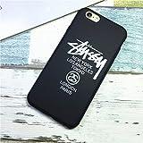 STUSSY ステューシー iPhone7用ケース アイフォン6S iPhone7PLUSカバー アイフォン6/6s plus iPhone5 ロゴデザイン ブランド ヒップホップドクロ (iPhone7, ブラック) [並行輸入品]