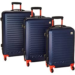 3-Piece Nautica Tide Beach Hardside Spinner Luggage Set - Multi Colors