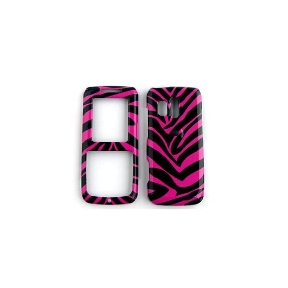 Samsung Messenger R450/R451 (Straight talk) Pink Zebra Skin Hard Case/Cover/Faceplate/Snap On/Housing/Protector