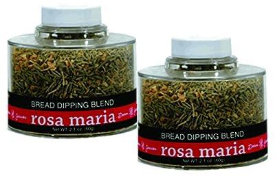 Rosa Maria Bread Dipping Seasonings ~ 2.1 oz. Stacking Jar (Pack of 2) from BetterTaste