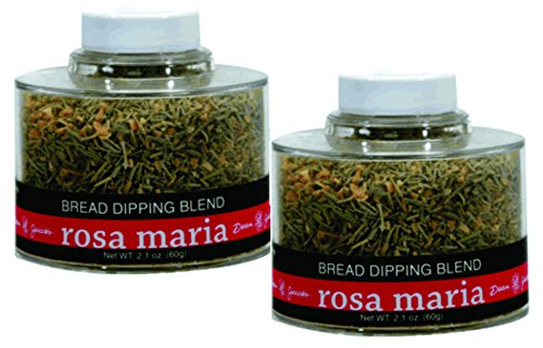 Rosa Maria Bread Dipping Seasonings ~ 2.1 oz. Stacking Jar (Pack of 2) (Italian Pepper Cookies compare prices)