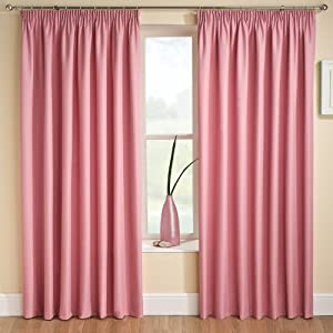 Tranquility Plain Stripe Light Pink 46 X54 Therma Backed Curtains 117cm Wide X 137cm Drop