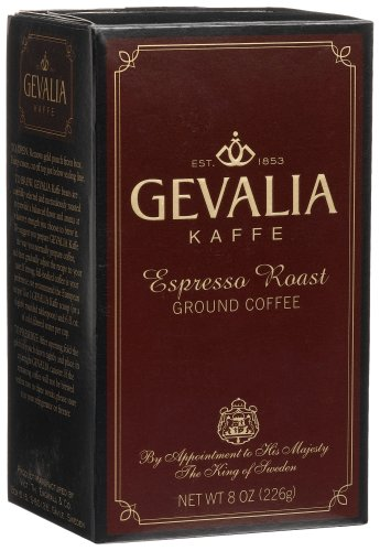 Gevalia Espresso Roast Ground Coffee, 8-Ounce Packages (Pack of 3)
