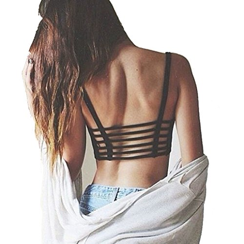 Outtop Sexy Crop Tops Women Strap Vest Cut Out Shirt Summer Bra Beach Tank (Black) (Cute Cheap Crop Tops compare prices)