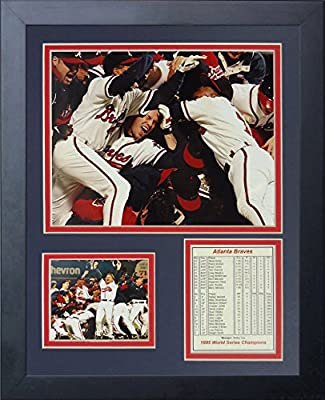 Legends Never Die 1995 Atlanta Braves Champions Framed Photo Collage, 11 by 14-Inch