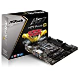 AS Rock PRO4-M LGA1155 Intel H77 Quad CrossFireX SATA3 USB3.0 A V GbE MATX Motherboard H77