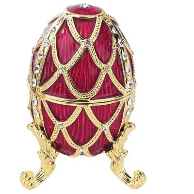 Design Toscano FH8777 Golden Trellis Faberge Style Enameled Eggs: Rouge Egg