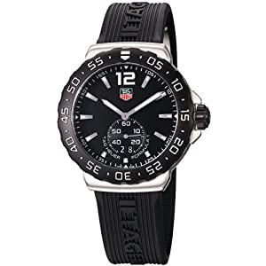 TAG Heuer Men's WAU1110.FT6024 Formula 1 Black Dial Black Rubber Strap Watch