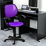 GreenForest Desk Chair Adjustable Height Swivel Computer Chair for Kids Room Purple