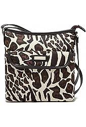 Kenox Women's Fashion Multi-pocket Zippered Crossbody Purse Bag