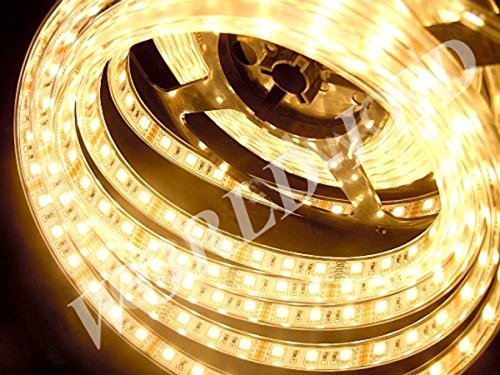 Led World 16.4Ft 5M 5050 Smd 300 Led Tube Waterproof Ip68 Led Strip Flexible Lights Warm White