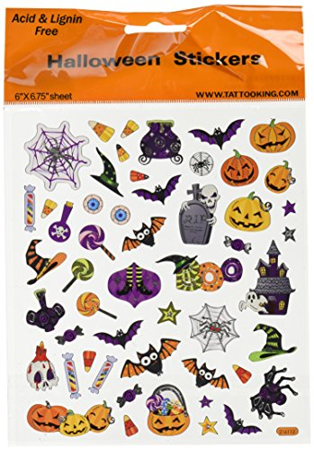 Tattoo King SK129MC-1320 Multicolored Sticker, Halloween Icons - 1