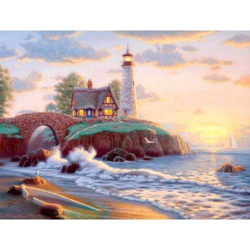 Cheap Sunsout Lighthouse Point 500 pc (B004HK2KSO)
