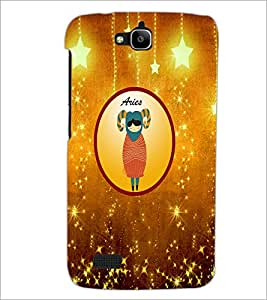 PrintDhaba Zodiac Aries D-3753 Back Case Cover for HUAWEI HONOR HOLLY (Multi-Coloured)