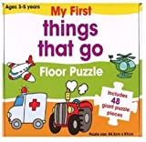 CHILDRENS TODDLER GIANT FLOOR JIGSAW PUZZLES CARRY CASE TOY (MY FIRST THINGS TO GO)