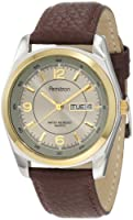 Armitron Men's Round Two-Tone Brown Leather Dress Watch #201925GYBN by Armitron