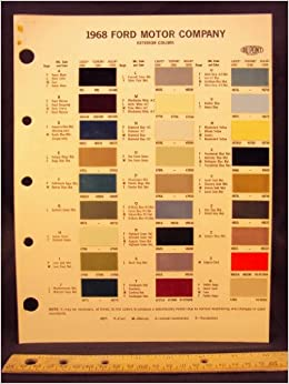 1968 ford motor company paint colors chip page ford motor. Black Bedroom Furniture Sets. Home Design Ideas