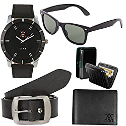 Combo of watch33,sunglass,belt,wallet and cardholder