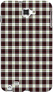 PRINTVISA Pattern Checks Case Cover For Samsung Galaxy Note 1