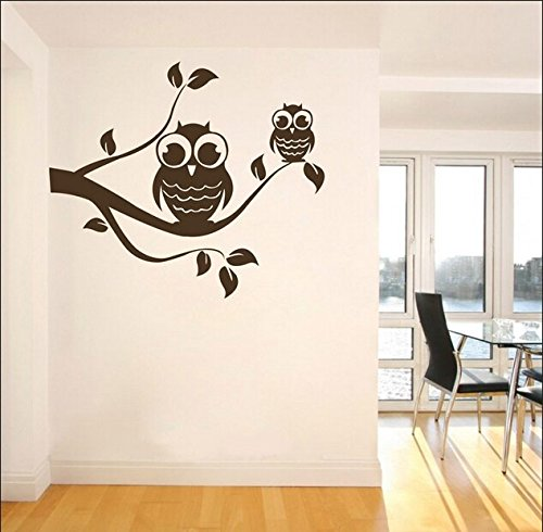 """Colorfulhall 37"""" X 32.28"""" Tree Branch And Birds Diy Vinyl Wall Art Decal Stickers Kids Room Wall Decals front-641251"""