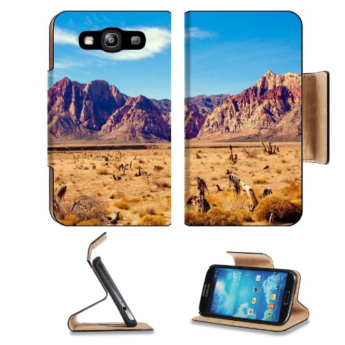 Nevada Red Rock In The Winter Sun Samsung Galaxy S3 I9300 Flip Cover Case With Card Holder Customized Made To Order Support Ready Premium Deluxe Pu Leather 5 Inch (132Mm) X 2 11/16 Inch (68Mm) X 9/16 Inch (14Mm) Liil S Iii S 3 Professional Cases Accessori