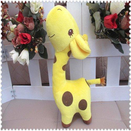Ddstore 1 Yellow Color Cartoon Doll Plush Giraffe Sika Deer Stuffed Toys
