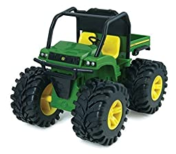 John Deere Monster Treads Lights and Sounds - Gator, Truck and Tractor Play Vehicles Toys Push&Pul,playground equipment Preschool Pre-Kindergarten Activity Toy