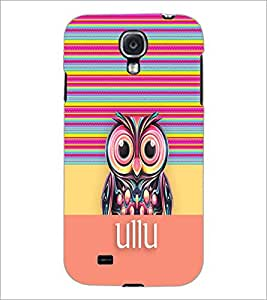 PrintDhaba Owl D-5792 Back Case Cover for SAMSUNG GALAXY S4 (Multi-Coloured)