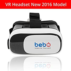 Vr Virtual Reality Headset 3D Glasses / Goggles For Apple & Android Smartphones of All Sizes - Immersive 360 HD - Superior to Google Cardboard - New Improved 2016 Model Huge Product Launch Discount